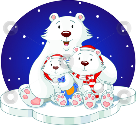 Bear_family stock vector clipart, Mother and her childs, very lovely by Anna Vtlichkovsky