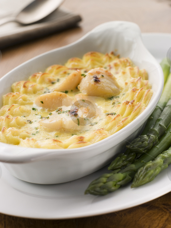Coquilles St Jacques Mornay with Pomme Puree stock photo,  by Monkey Business Images