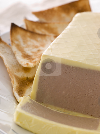Chicken Liver and Foie Gras Parfait with Melba Toast stock photo,  by Monkey Business Images