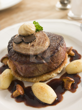 Tournedos Rossini with Cocotte Potatoes stock photo,  by Monkey Business Images