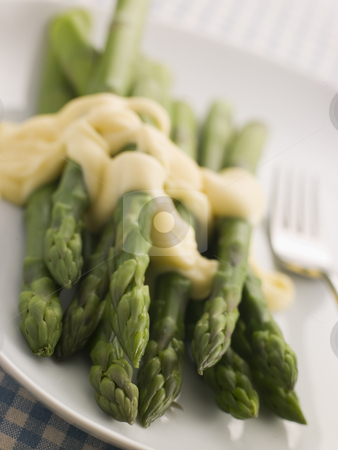 Hot Asparagus Hollandaise stock photo,  by Monkey Business Images