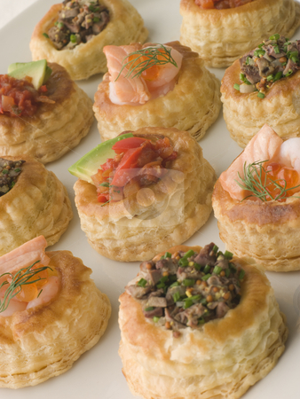 Selection of Cocktail Vol au Vents stock photo,  by Monkey Business Images