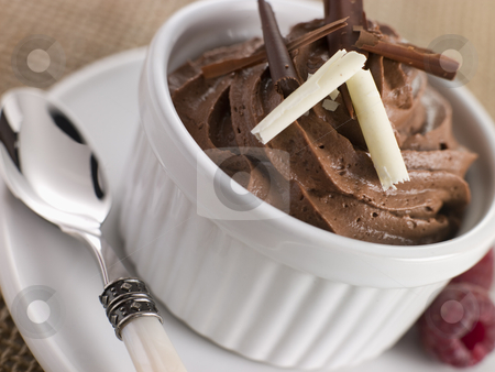 Mousse au Chocolat stock photo,  by Monkey Business Images