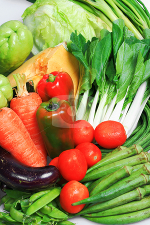 Vegetables stock photo, Close up of newly harvested vegetables from farm by Jonas Marcos San Luis