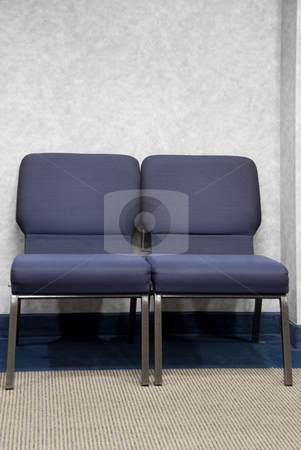 Waiting Room stock photo, Chairs in the waiting room of a doctor's office. by Robert Byron