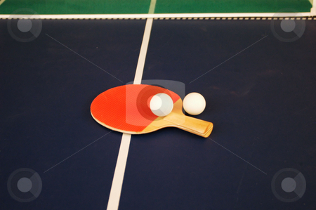 Ping pong tools stock photo, Tools needed for a ping pong game by Tim Markley