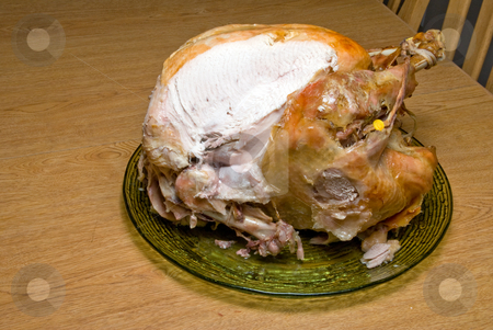 Cooked Turkey stock photo, A hot and delicious freshly cooked turkey. by Robert Byron