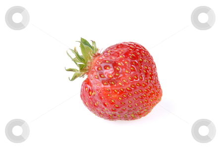 Strawberry stock photo, Ripe strawberry with reflection on a plate by Joanna Szycik