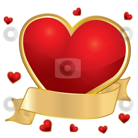 Love hearts stock vector clipart, The Valentine's day, vector illustration by Milsi Art