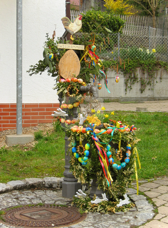 Easter decorations stock photo,  by Wolfgang Heidasch