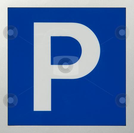 Verkehrschild Parkplatz stock photo, Zeichen 314:allgemeines Parkplatzschild by Wolfgang Heidasch