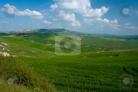 Blick auf Volterra, Toskana stock photo, Blick auf Volterra, Toskana by Wolfgang Heidasch