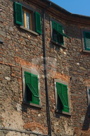 H?userfront in einer italienischen Stadt stock photo, H?userfront in einer italienischen Stadt by Wolfgang Heidasch