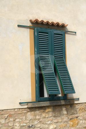 Fensterladen an italienischem Haus stock photo, Fensterladen an italienischem Haus by Wolfgang Heidasch