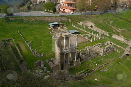 R?misches Amphitheater in Volterra, Toskana stock photo, R?misches Amphitheater in Volterra, Toskana by Wolfgang Heidasch