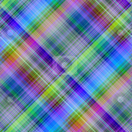 Multicolored diagonal grid pattern background. stock photo, Multicolored diagonal grid pattern background. by Stephen Rees