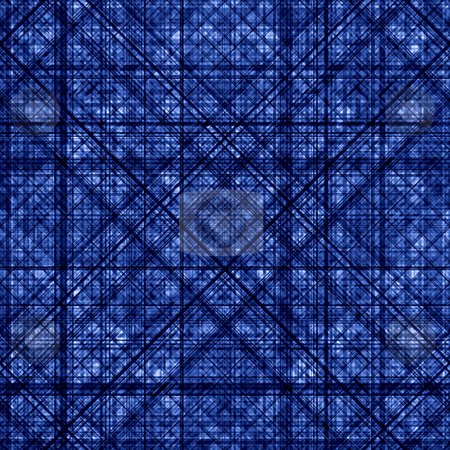A dark blue abstract grid pattern background. stock photo, A dark blue abstract grid pattern background. by Stephen Rees