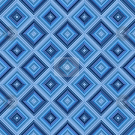 Seamless small blue diamond pattern background. stock photo, Seamless small blue diamond pattern background. by Stephen Rees