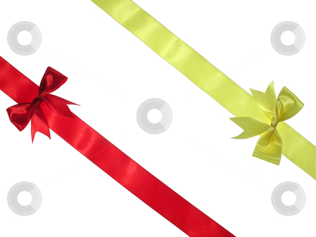 Ribbon stock photo, Ribbon isolated on white by Marek Kosmal