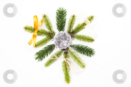 Christmas decoration stock photo, Christmas tree with presents isolated by Marek Kosmal