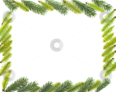 Christmas decoration stock photo, Christmas frame isolated by Marek Kosmal