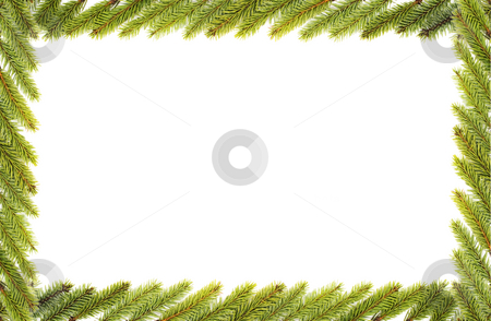 Christmas frame stock photo, Christmas frame isolated by Marek Kosmal