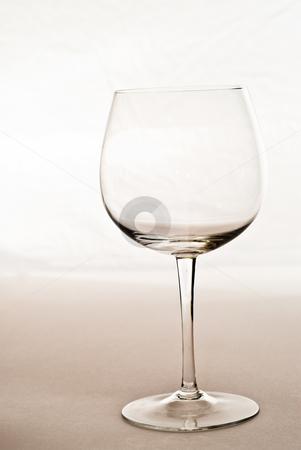 Empty Wine Glass stock photo, An empty wine glass shot in a studio by Richard Nelson