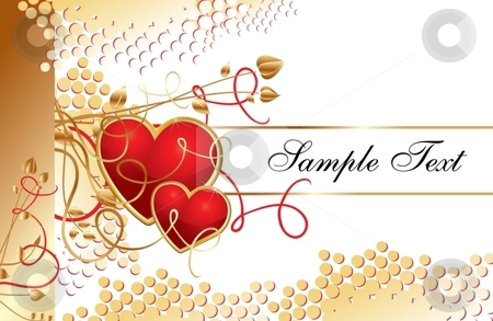 Love hearts stock vector clipart, The Valentine's day template, vector illustration by Milsi Art