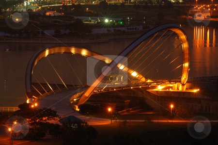 Putrajaya Dam at Night stock photo, Putrajaya Dam at Night by Jaggat Images