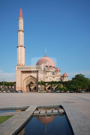 Putrajaya Mosque stock photo, Putrajaya Mosque by Jaggat Images