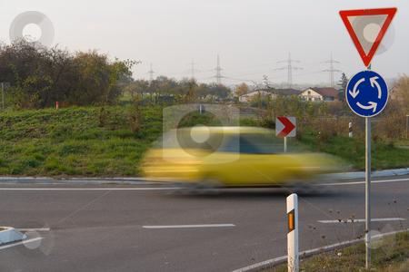 Am Kreisverkehr stock photo, Deutschland, Baden W?rttemberg, Kreisverkehr zwischen Notzingen und Lindorf by Wolfgang Heidasch