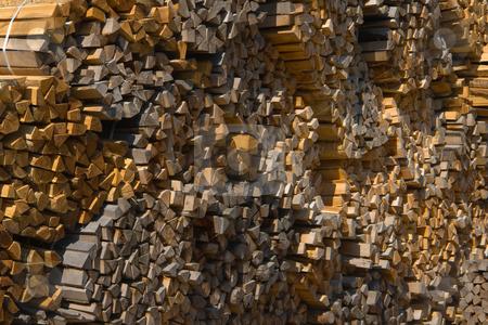 Gestapelte Holzst?cke stock photo, Diese werden verwendet, um Reben mit zus. Draht in Form zu halten by Wolfgang Heidasch
