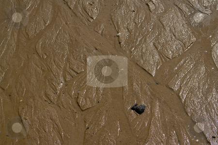 Strukturen im Sand (Watt) am Atlantik in Frankreich, H?he Bordeaux, Medoc stock photo, Wind und Wasserbewegung formen diese bizarren und verg?nglichen Muster in den Sand. by Wolfgang Heidasch