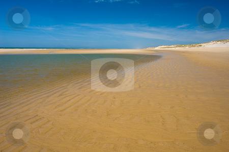 Summer beach with nobody stock photo, Urlaub Sommer 2007 Frankreich by Wolfgang Heidasch