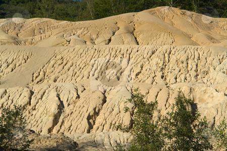Erosionslandschaft stock photo, Am Ufer des Flusses Sioule in der Auvergne, Frankreich by Wolfgang Heidasch