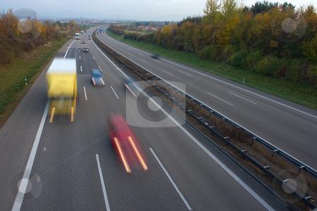 An der Autobahn stock photo, Deutschland, Autobahn A8 H?he Kirchheim unter Teck, Langzeitbelichtung by Wolfgang Heidasch