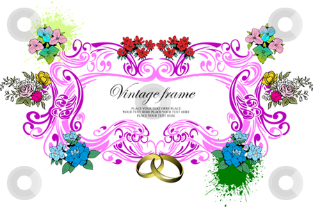 Wedding or Valentine`s day card stock vector clipart, Wedding or Valentine`s day card by Leonid Dorfman