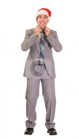 Promotion stock photo, Full body view of a business employee looking excited because of his new promotion by Richard Nelson