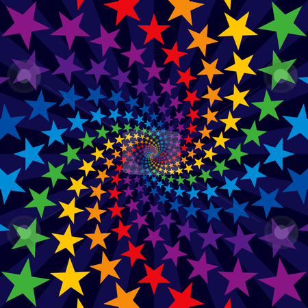 Star swirl burst stock vector clipart, Star swirl burst by Adrian Sawvel
