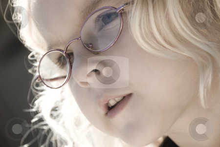 Child Close Up stock photo, Soft Focus close up image of a child with glasses by A Cotton Photo