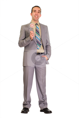 Candy Man stock photo, Full body view of a candy man, isolated against a white background by Richard Nelson