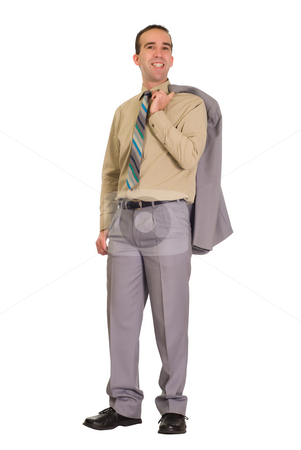 Successful Businessman stock photo, Full body view of a successful businessman, isolated against a white background by Richard Nelson