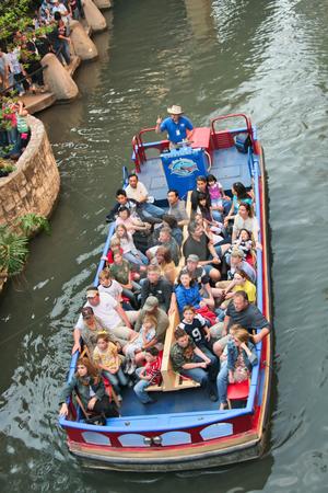 Riverwalk Boat stock photo, The historic riverwalk in San Antonio Texas by Kevin Tietz
