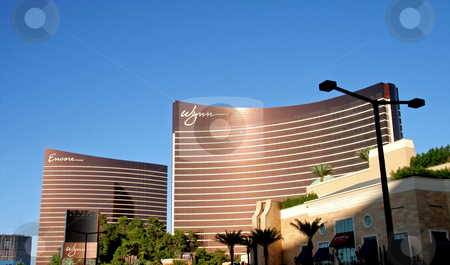 Wynn Casino stock photo, A exterior shot of the Wynn & Encore casino and hotel in Las Vegas by Kevin Tietz