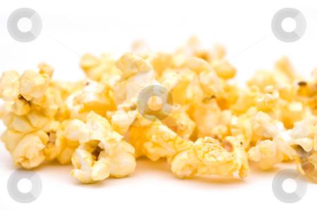Shallow focus closeup of popcorn stock photo, Shallow focus closeup of popcorn by Vince Clements