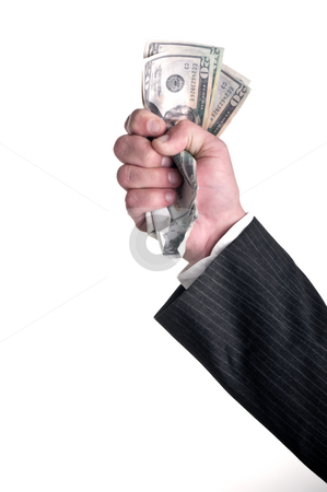 Fist full of money stock photo, Fist full of money by Vince Clements