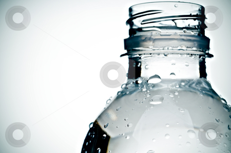 Bottle of water stock photo, Crossed-processed bottle of water by Vince Clements