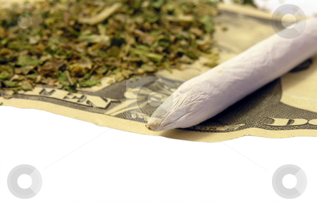 Marijuana stock photo, Marijuana joint and money by John Teeter