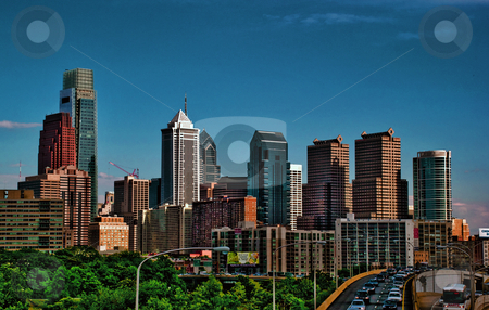 Philadelphia Skyline stock photo, Philadelphia, Pennsylvania, USA. by Josh Smith