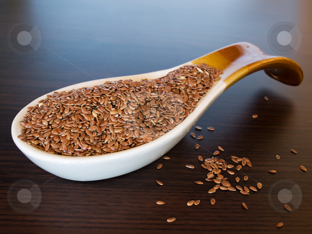 Flax seed 2 stock photo, Flax seed is very healthy for our digestion and nutrition. by Sinisa Botas